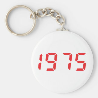 red 1975 icon basic round button keychain