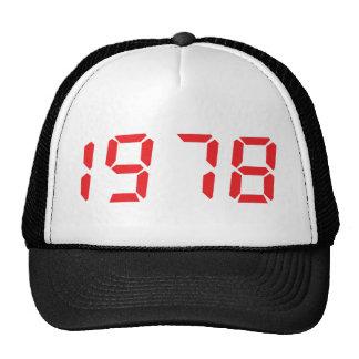 red 1978 icon trucker hat