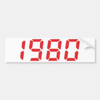 red 1980 icon bumper sticker