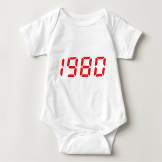 red 1980 icon tee shirt