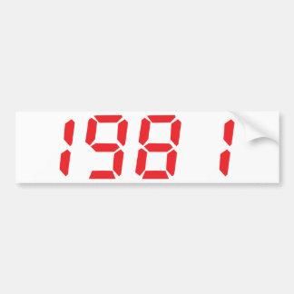 red 1981 icon bumper sticker