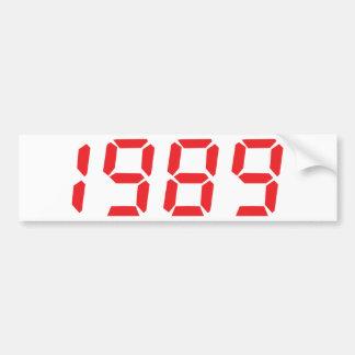 red 1989 icon bumper sticker