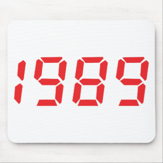 red 1989 icon mouse pad