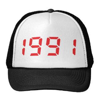 red 1991icon trucker hat