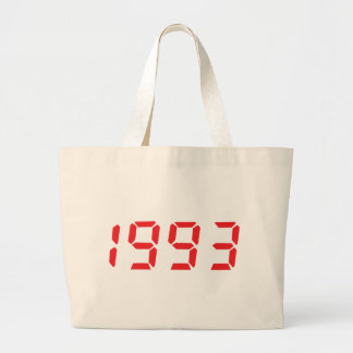 red 1993 icon large tote bag