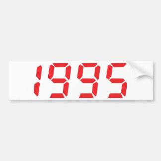 red 1995 icon bumper sticker