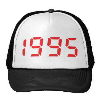 red 1995 icon trucker hats