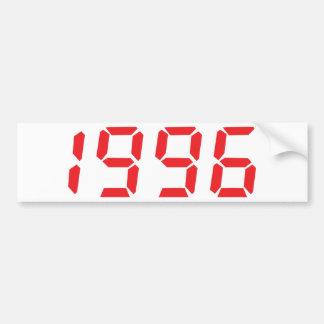 red 1996 icon bumper sticker