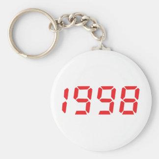 red 1998 icon basic round button keychain