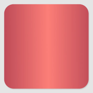 Red 1 - Pastel Red and Burgundy Gradient Square Sticker