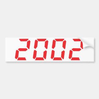 red 2002 icon bumper sticker