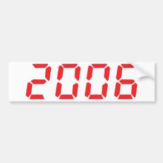red 2006 icon bumper sticker