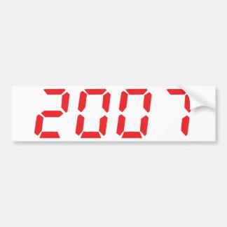 red 2007 icon bumper sticker