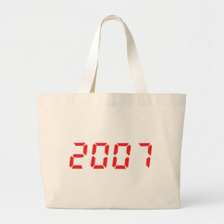 red 2007 icon large tote bag
