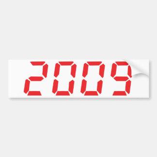 red 2009 icon bumper sticker