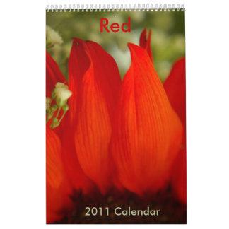 Red - 2011 calendar