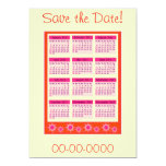 Red 2011 Year at a Glance Calendar Invitations