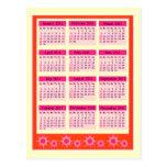 Red 2011 Year at a Glance Calendar Postcard