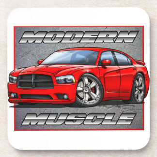 Red 2013 Charger Beverage Coaster