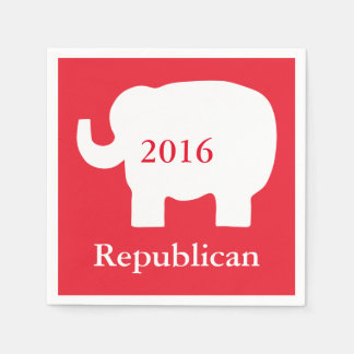 Red 2016 Republican Political Election Event Napkin