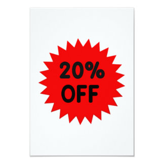 Red 20 Percent Off Card