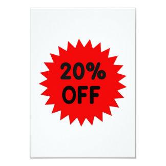 Red 20 Percent Off Invites