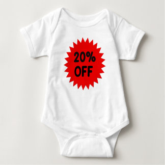 Red 20 Percent Off Tee Shirt