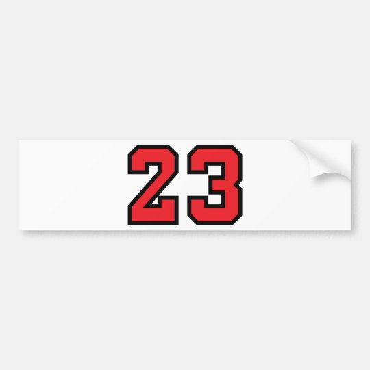 Red 23 bumper sticker