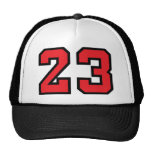 Red 23 mesh hats