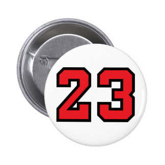 Red 23 pinback button