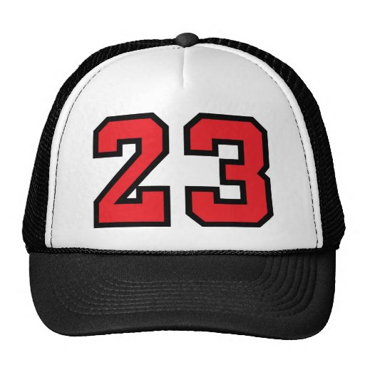 Red 23 trucker hat