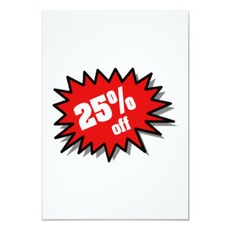Red 25 Percent Off Card
