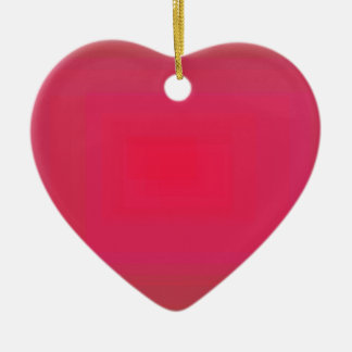 Red 2 Double-Sided heart ceramic christmas ornament