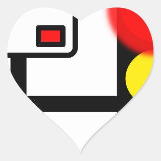 red-36938.png pegatina en forma de corazón