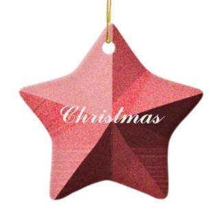 Red 3-D Star Christmas Holiday Ornament Template
