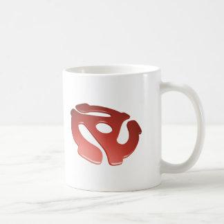 Red 3D 45 RPM Adapter Coffee Mug