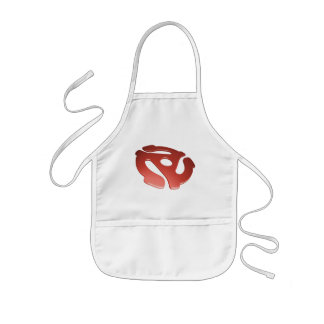 Red 3D 45 RPM Adapter Kids' Apron