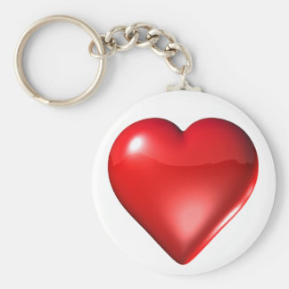 Red 3D Heart Keychain