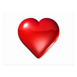 Red 3D Heart Postcard