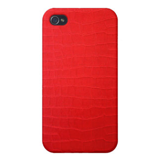 Red 3d Leather iphone case iPhone 4/4S Covers
