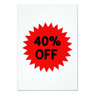 Red 40 Percent Off Custom Announcement