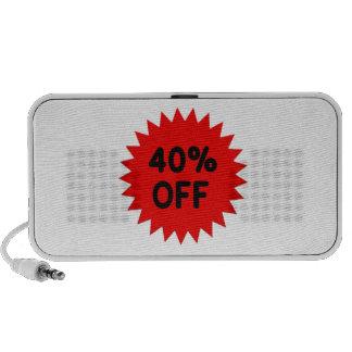 Red 40 Percent Off iPod Speaker