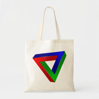 red-41230 OPTICAL ILLUSIONS TRIANGLE SHAPES TWISTE Tote Bag