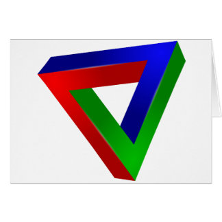 red-41230 OPTICAL ILLUSIONS TRIANGLE SHAPES TWISTE Card