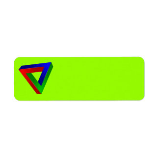 red-41230 OPTICAL ILLUSIONS TRIANGLE SHAPES TWISTE Return Address Label