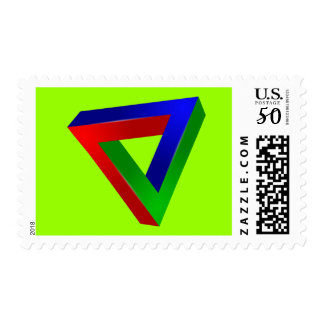 red-41230 OPTICAL ILLUSIONS TRIANGLE SHAPES TWISTE Postage