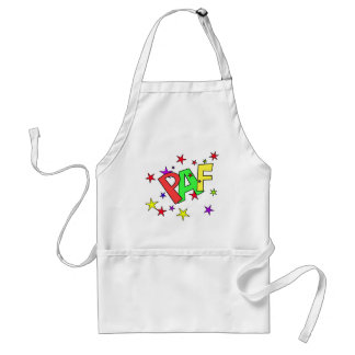 red-41991 CARTOON COMIC STARS PAF WORDS SHOUTOUTS Aprons