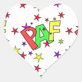 red-41991 CARTOON COMIC STARS PAF WORDS SHOUTOUTS Heart Sticker