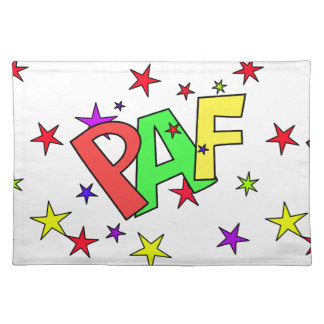 red-41991 CARTOON COMIC STARS PAF WORDS SHOUTOUTS Placemat