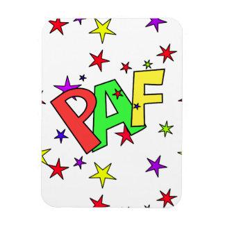 red-41991 CARTOON COMIC STARS PAF WORDS SHOUTOUTS Rectangular Photo Magnet